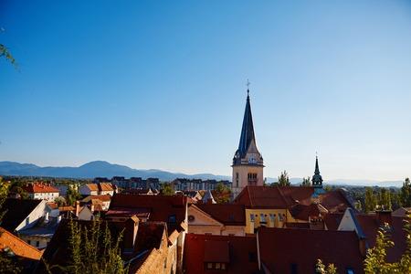 slovenian: The Cityscape of the Slovenian capital Ljubljana