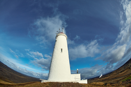 reykjanesviti lighthouse in iceland. Travel to interesting places and beautiful sights of Iceland