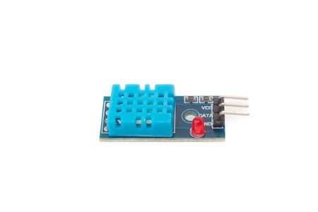 Temperature and humidity sensor for DIY projects isolated on white