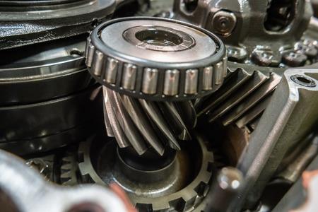Car Automatic transmission gears. Automotive repair workshop garage mechanic. Banco de Imagens
