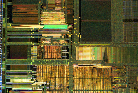 Silicon crystal digital processor macro shot