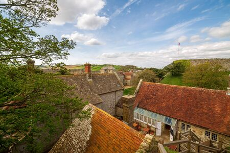 The landscape view from Carisbrooke Castle on the Isle of Wight Imagens