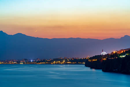 Amazing Sunset and mountains at Antalya Falez and Beach