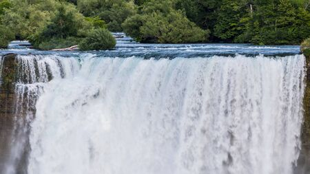 Majestic Niagara Falls, view from the Canadian coast. New York State Landmark
