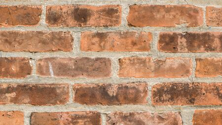 Red brick texture, wall of a typical brick building in usa