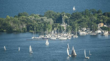 Sailing Regatta Around Central Island Opposite Toronto Canada