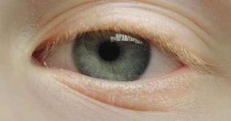 Blue beautiful eye of a little girl