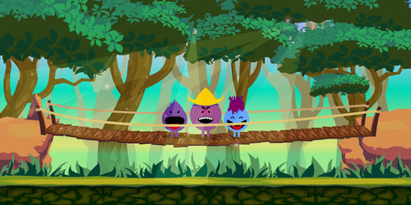 Forest Game Background for 2d game application.