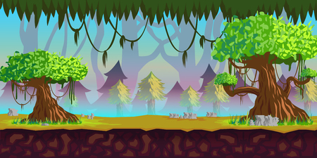 scroller: Forest Game Background for 2d game application.
