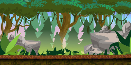 side effect: Forest Game Background for 2d game application.