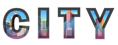 typographic: City construction. Typographic vector illustrations Typographic illustrations