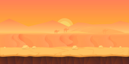 sand dunes: Game Background for your application , project. The Game background is made in vector. Size 1024x512 Illustration
