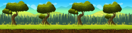 green plants: Meadow and forest, nature landscape, Vector background for your application , project