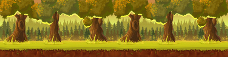 Meadow and forest, nature landscape, Vector background for your application , project