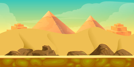 oasis: Game Background for your application , project. The Game background is made in vector. Size 1024x512 Illustration