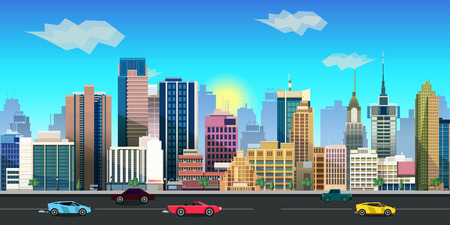 scroller: city game background 2d game application
