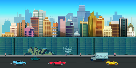 city game background 2d game application