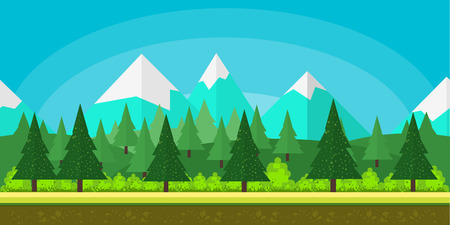 game background flat Style 2d game application 矢量图像