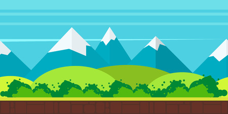 game background flat Style 2d game application Illustration