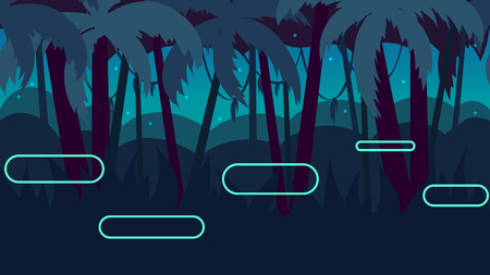 platforms: Seamless cartoon nature landscape with different platforms and separated layers for games.
