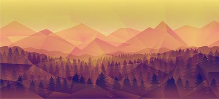 Paisaje del bosque, fondo del vector de la naturaleza grande como un papel pintado, plantilla del diseño, aviador, etc.