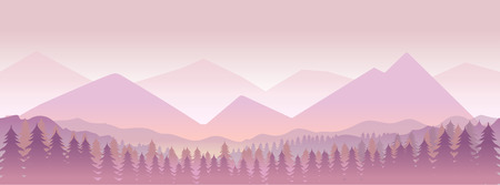 Morning in mountains,nature landcape .vector illustration for your design