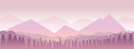 Morning in mountains,nature landcape . illustration for your design
