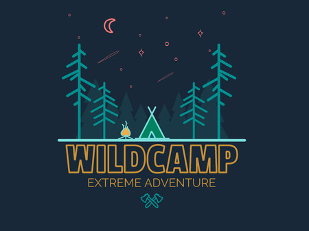 Stay Wild Camping Child ,Hand Drawn t Shirt Print,camping and adventure forest badge logo, emblem logo, label design. illustration,Typographic Design