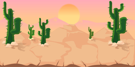Cactuses Game Background