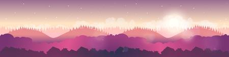 Nature landscape, Vector illustration for your design.