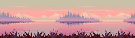 Autumn background. Nature landscape vector graphics, Vector illustration for your design