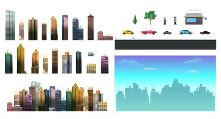 Constructor vector for night city design Illustration