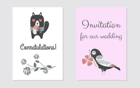 Newborn congratulation card design.