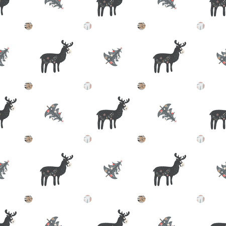 Cute Seamless Pattern, Scandinavian style