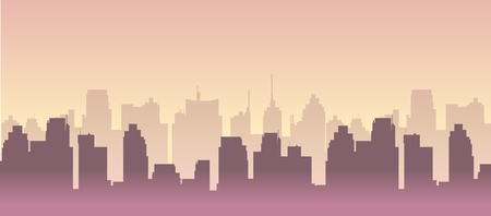 City building silhouette vector cityscape illustration for you project