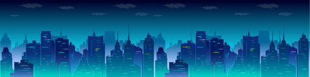 City night skyline, vector illustration for you project.