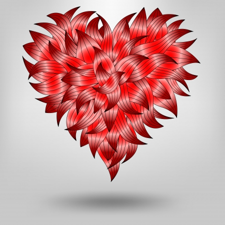 red heart from petals, heart sketch for your design Stock Vector - 25470919