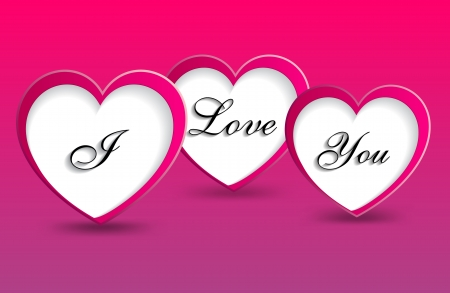 message i love you spelled on hearts, vector illustration Vector