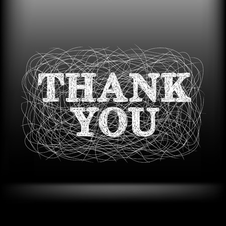 the sketch of the words thank you, vector illustration Vector