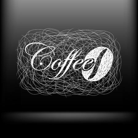 fond caf�: dessin� � la main moderne fond de caf�