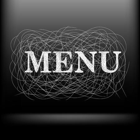 menu text Vector