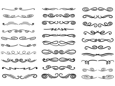 Set of vector decorative dividers