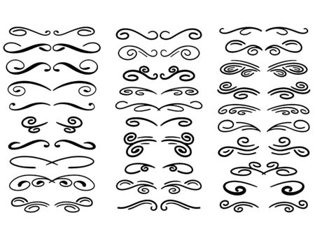 Set of vector decorative dividers Illustration