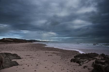Sea strand before rain Stock Photo