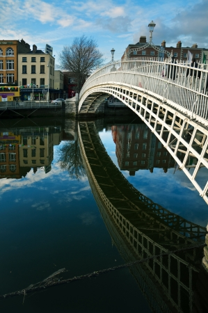 Half Penny Bridge, Liffey river, Dublin, Ireland