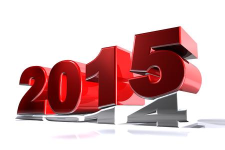 turns of the year: Nuevo 2015 a�os empujando 2014