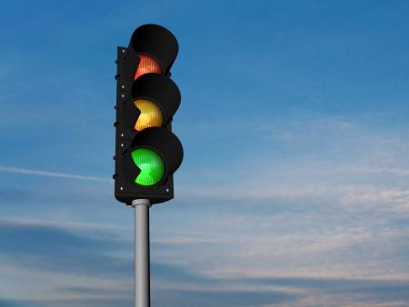 Traffic lights, normal