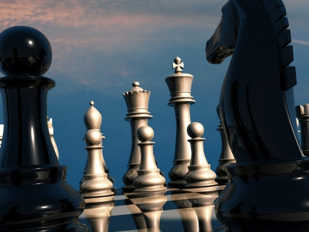 Chess battle photo