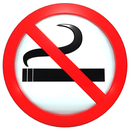 Sign  button  No smoking