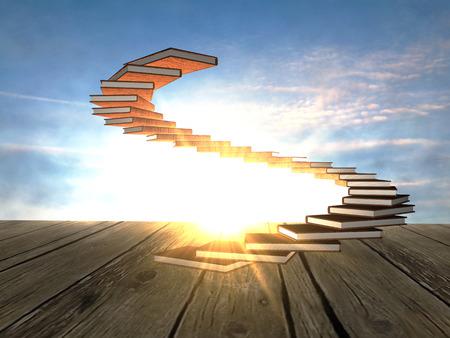 Book's spiral ladder